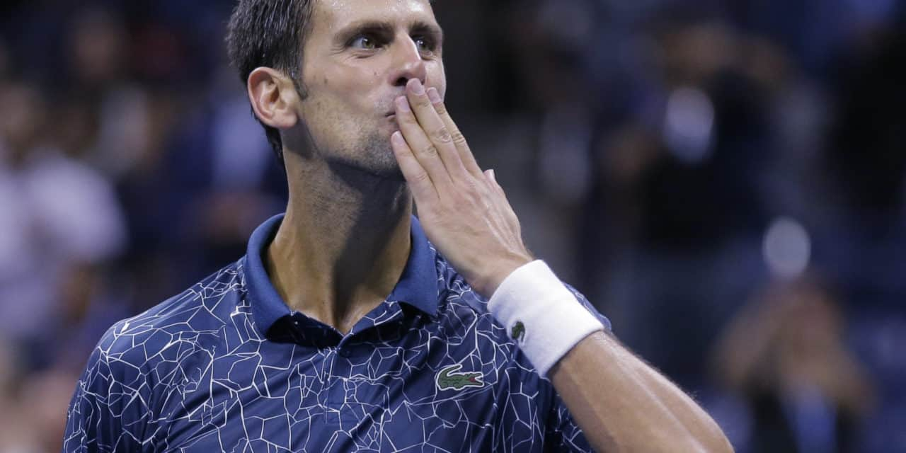 Novak Djokovic i US Open finalen